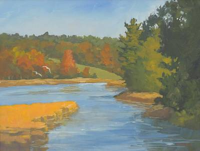 Painting - Autumn On The Sheepscot by Bill Tomsa