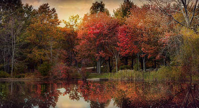 Photograph - Autumn On The The River by Robin-Lee Vieira