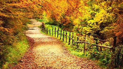 Autumn On The Trail Print by Garland Johnson
