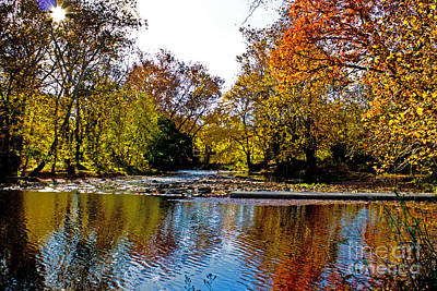 Pennypack Photograph - Autumn On The Water by Tom Gari Gallery-Three-Photography