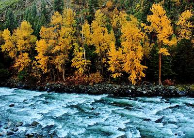 Photograph - Autumn On The Wenatchee by Benjamin Yeager