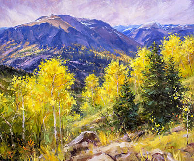 Autumn Overlook Art Print by Bill Inman