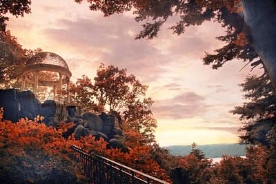 Rural Digital Art - Autumn Overlook by Jessica Jenney