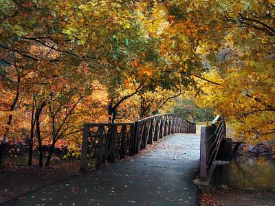 Rural Digital Art - Autumn Overpass by Jessica Jenney