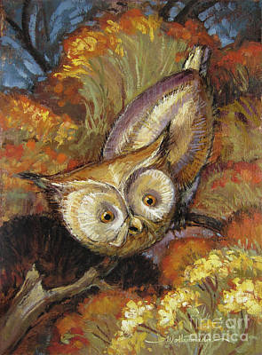 Painting - Autumn Owl by Randy Wollenmann