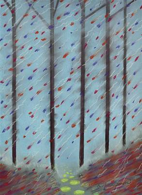Autumn Parade Confetti Art Print