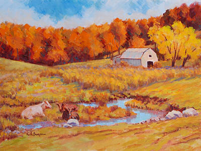 Autumn Pastoral Original by Keith Burgess
