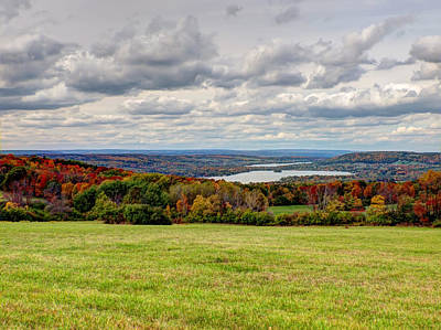 Autumn Pastures Autumn Lakes Art Print by Joshua House