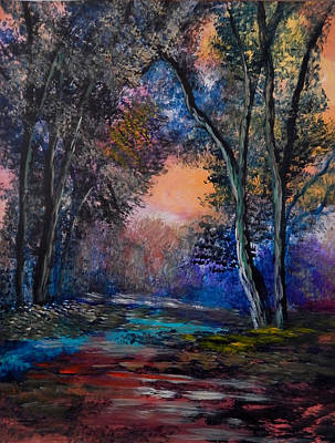 James Earl Ray Painting - Autumn Path by Anna Sandhu Ray