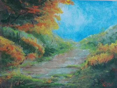 Painting - Autumn Path by Chuck Kemp