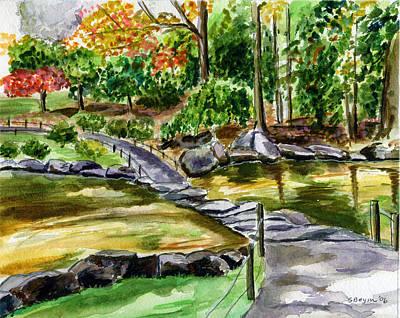 Painting - Autumn Path by Clara Sue Beym