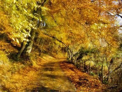Dale Jackson Digital Art - Autumn Path by Dale Jackson