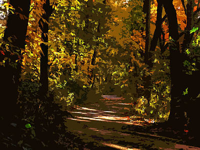 Photograph - Autumn Path by Ron Grafe