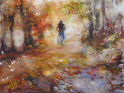 Autumn Path Original by Rose Sinatra