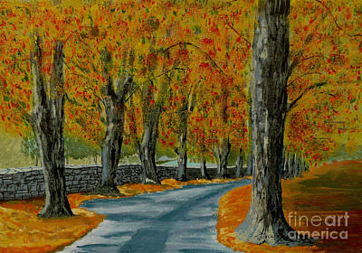 Painting - Autumn Pathway by Anthony Dunphy