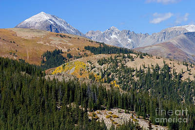 Steven Krull Royalty-Free and Rights-Managed Images - Autumn Peaks by Steven Krull