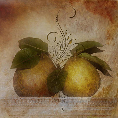Digital Art - Autumn Pears by TnBackroadsPhotos