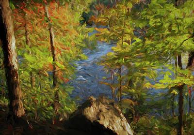 Peaceful Photograph - Autumn Peek By Potomac River by Francis Sullivan