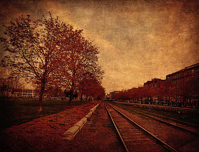 Old Montreal Digital Art - Autumn Perspective  by Maria Angelica Maira