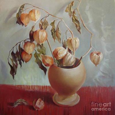 Ceramics Painting - Autumn Poetry by Elena Oleniuc