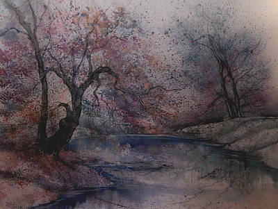 James Earl Ray Painting - Autumn Pond  by Anna Sandhu Ray