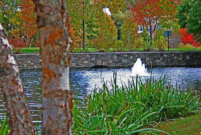 Art Print featuring the photograph Autumn Pond Another View by Andy Lawless