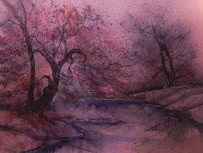 James Earl Ray Painting - Autumn Pond  II by Anna Sandhu Ray