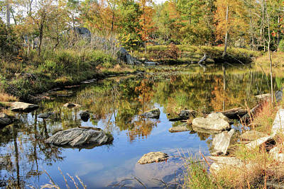 Hiking Photograph - Autumn Pond On Billy Goat Trail by Francis Sullivan