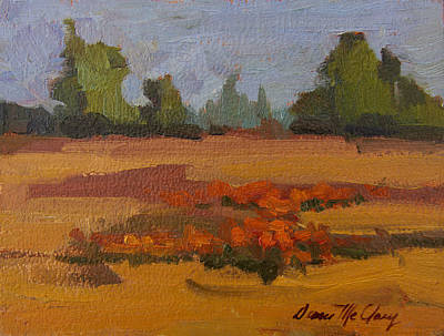 Painting - Autumn Poppy Field by Diane McClary