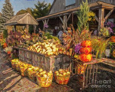 Photograph - Autumn Produce New England Usa by Liz Leyden