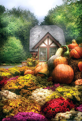 Country Photograph - Autumn - Pumpkin - This Years Harvest Was Awesome  by Mike Savad