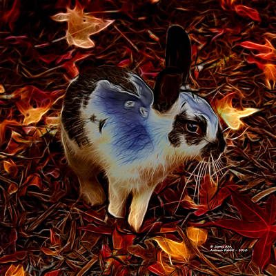 Digital Art - Autumn Rabbit 5010 - James Ahn by James Ahn