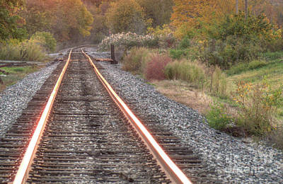 Photograph - Autumn Rails by Deborah Smolinske