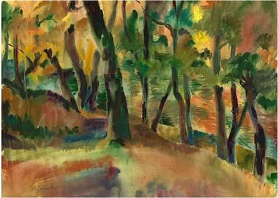 Painting - Autumn Reflection by Anna Lobovikov-Katz