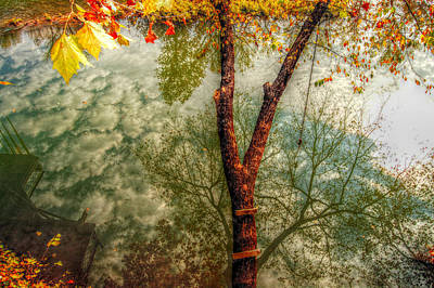 Autumn Peggy Franz Photograph - Autumn Reflection  by Peggy Franz