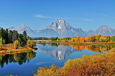 Photograph - Autumn Reflections At Oxbow Bend by Greg Norrell