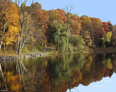 Art Print featuring the photograph Autumn Reflections by Bill Woodstock