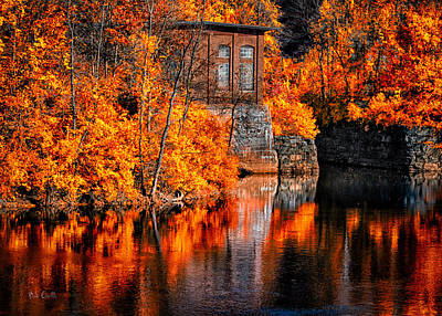 Androscoggin Photograph - Autumn Reflections  by Bob Orsillo