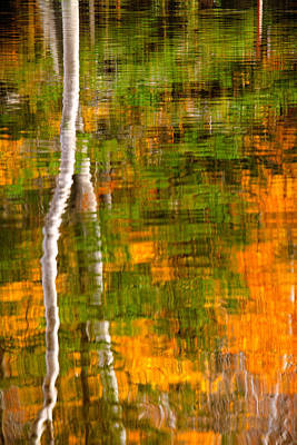 Photograph - Autumn Reflections by Jeff Sinon