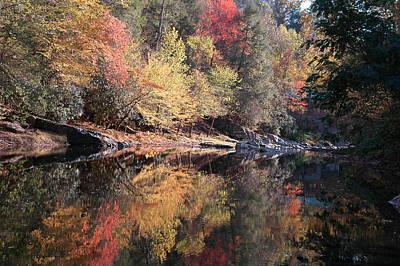 Autumn Reflections Art Print by John Saunders