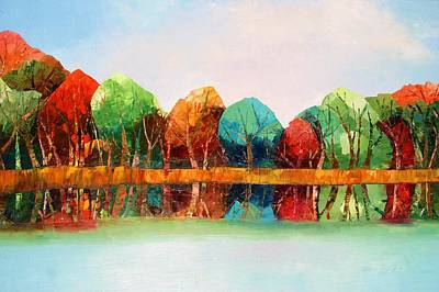 Painting - Autumn Reflections by Misuk Jenkins