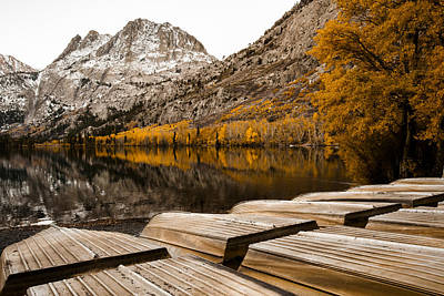 Photograph - Autumn Reflections On Silver Lake Fine Art Photograph Print by Jerry Cowart