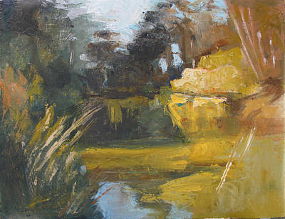 Painting - Autumn Reflections Stowe Lake by Suzanne Cerny