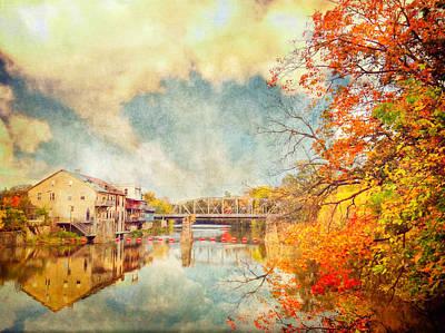 Autumn Reflections Art Print by Tracy Munson