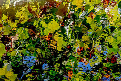 Photograph - Autumn Ripples Abstract by Jim DeLillo