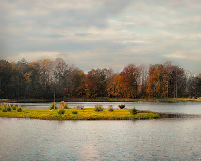 Autumn Scenes Photograph - Autumn Rising At The Duck Pond - Autumn Scene by Jai Johnson