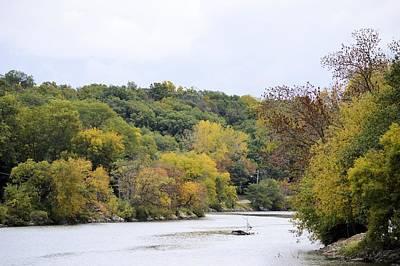 Photograph - Autumn River by Bonfire Photography