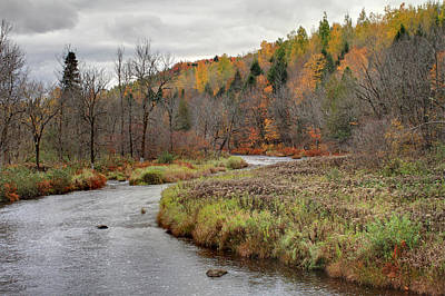 Photograph - Autumn River In Quebec by Pierre Leclerc Photography