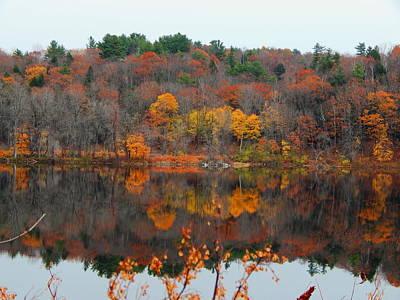 Photograph - Autumn River Mirror by Expressionistart studio Priscilla Batzell