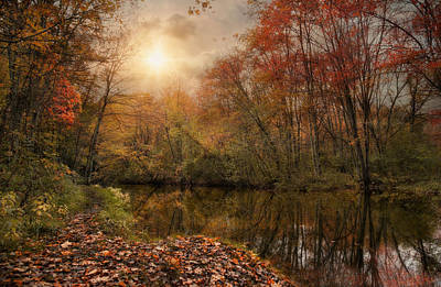 Photograph - Autumn River by Robin-Lee Vieira
